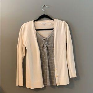Cream cardigan size small